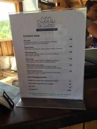 Dunham, Canada: Notre choix fuût la pizza Château de Cartes....excellent choix!
