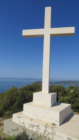Marjan Park: The cross at the top