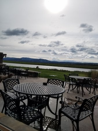 TroutHunter: View from the restaurant (Henry's Fork-Snake River)