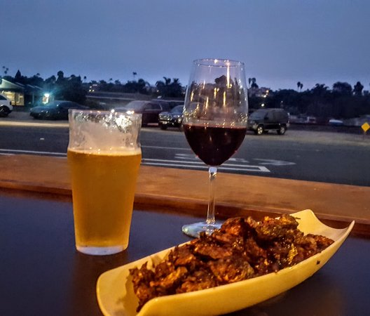 Priority Public House : Brews and brussels with an open air view of coast highway