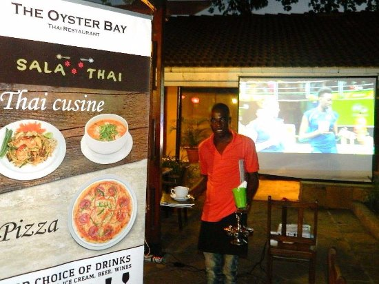 Sala Thai Restaurant : Night time entertainment is Big Screen TV and Good Music.  We cook also Pizza