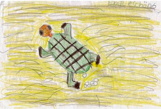 Annes Info Point: Hat unsere tochter nach Turtle Watching für Anne gemalt.