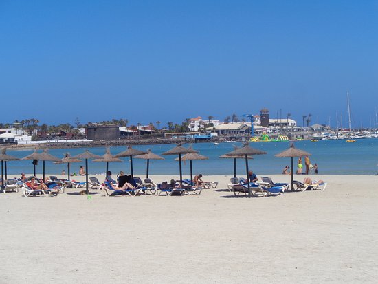 Caleta de Fuste beach and harbour