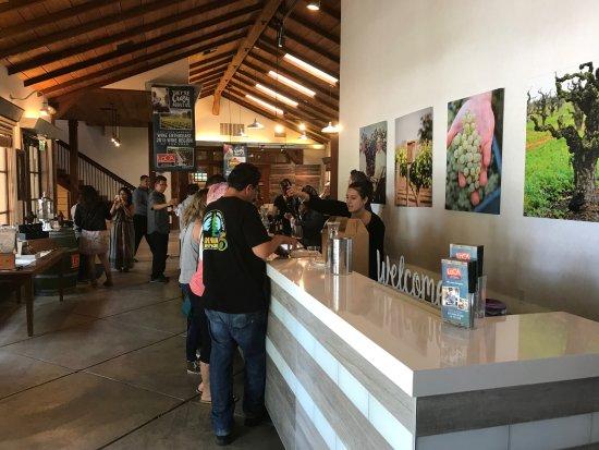 Lodi Wine & Visitor Center: the tasting room