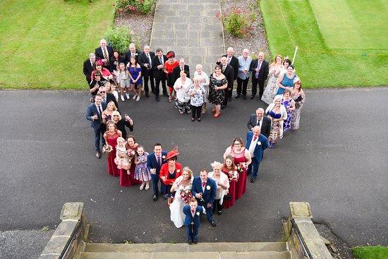 Backworth, UK: Group photo, outside the venue