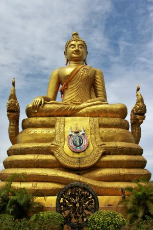 Chalong, Tailandia: Buddha Statue made in Brass