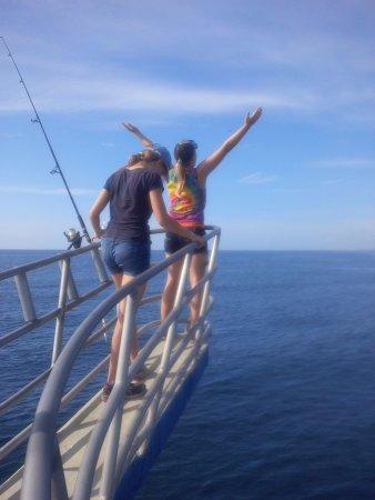 Boynton Beach, FL: The girls on the bow!
