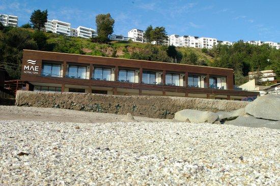 Maitencillo, Chile: vista desde la playa
