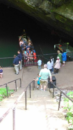 Centre Hall, PA: The boat that takes you on the tour through Penn's Cave's.
