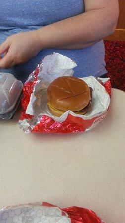 Jerome, ID: My wife's Junior Bacon Cheeseburger