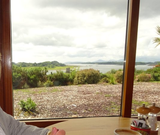 Appin, UK: View from the cafe