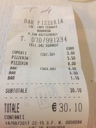 Bar Pizzeria Capo Ferrato, Muravera - Restaurant Bewertungen ...