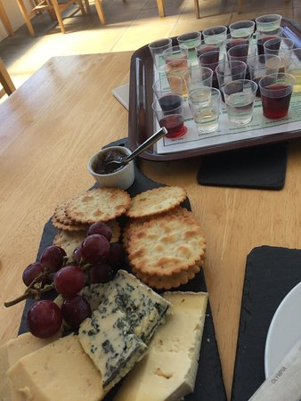Martletwy, UK: Cheeseboard and wine tasting kit