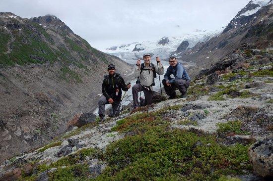 Kennicott, AK: Glacier overlooking the Fan Glacier valley in Wrangell-St. Elias National park, Alaska