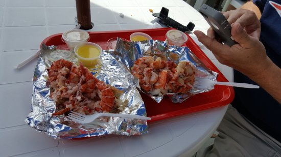 Wiscasset, ME: Tender lobster rolls with the BEST FLAVOR!