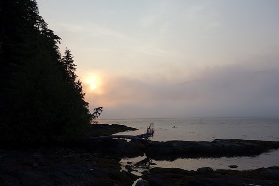 Port Renfrew, Canada: View from back porch at sunset