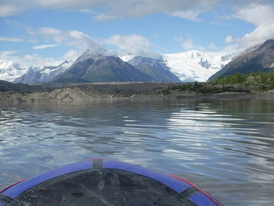 Kennicott, AK: View of the Root Galcier from the Pack Raft