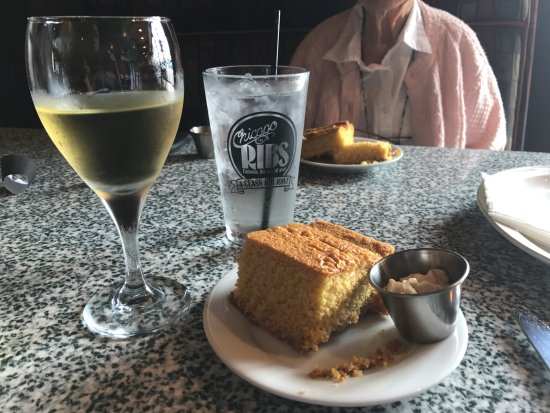 Chicago For Ribs: Great cornbread - goes well with Chardonnay