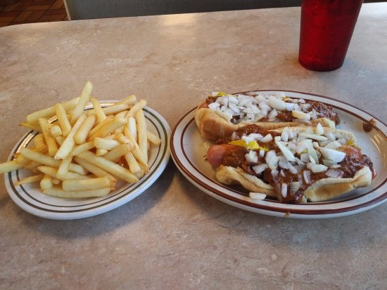 Two Coney special served at Olympic Coney Island in the Trenton/Brownstown area of Michigan