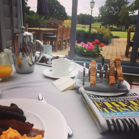Rockliffe Hall Hotel. Orangery breakfast.