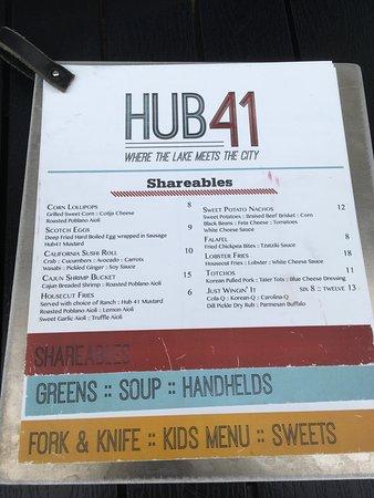 Detroit Lakes, MN: The menu.
