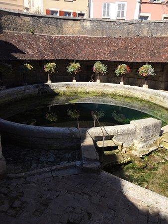 Tonnerre, France : Un posto carino con la sorgente pulita, peccato che c'era poca acqua.