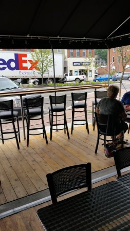 Olean, NY: Open air seating facing N Union Street