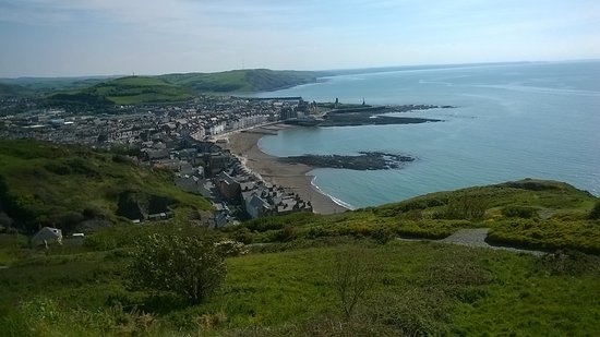 Looking down at Aberystwyth.....