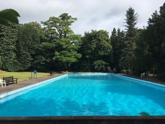 Pool garden annex balcony view picture of new bath hotel - Hotels in derbyshire with swimming pool ...