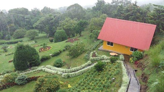 Cabanas El Parador: Cabaña familiar y jardín