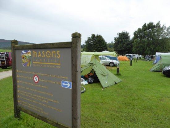 Appletreewick, UK: Camping area