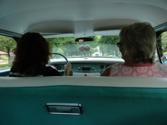 61577a770 View from back seat with Ava driving and Melissa enjoying ride ...