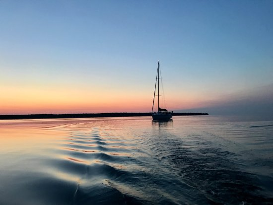 Ellison Bay, WI: Just getting ready for sunrise over Rowleys Bay
