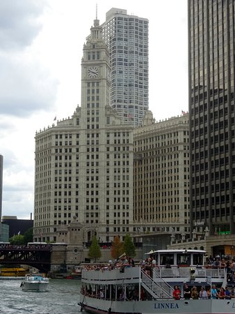 Wrigley Building View from Chicago River Walk
