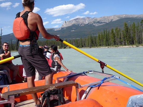 Jasper Raft Tours: Wyatt, rafting on the Athabasca River