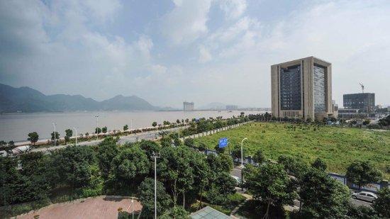 Wenzhou, China: panoramica da un ristorante panoramico