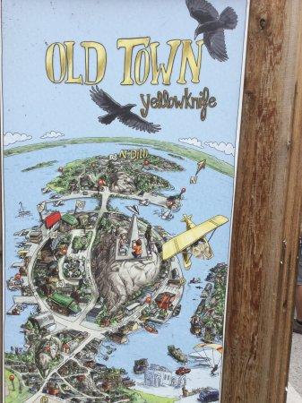 Old Town: Carte du vieux Yellowknife