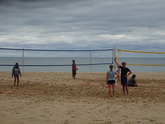 Oak Street Beach Volleyball Players