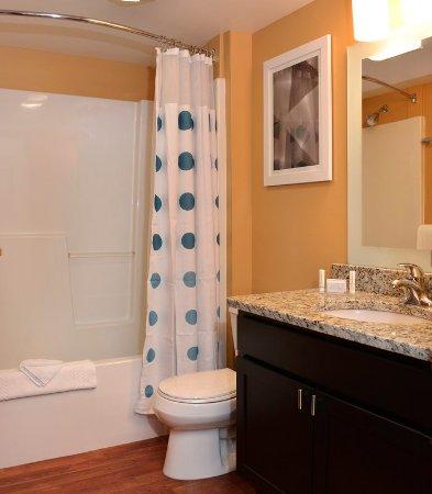 East Lansing, ميتشجان: Studio Suite Bathroom