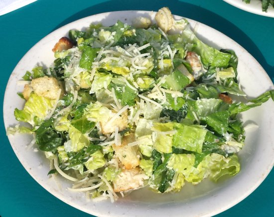 Lincolnville, ME: Caesar salad with homemade croutons