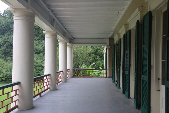 Destrehan Plantation: View of the porch.