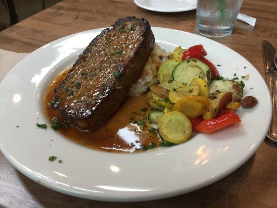 Edmond, OK: Meatloaf, mashed potatoes and vegetables