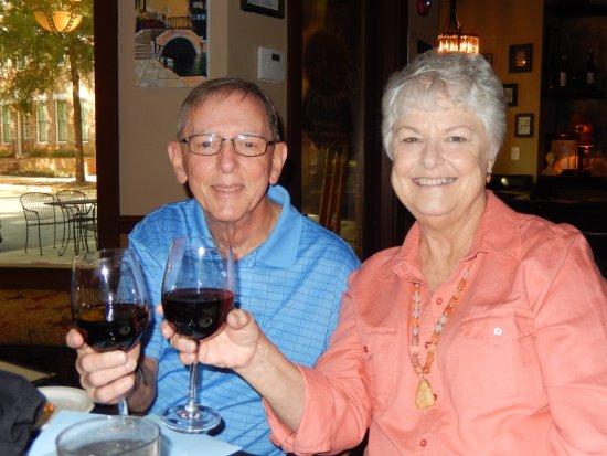 The happy anniversary couple toast picture of milazzo s