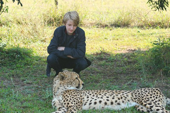 Hluhluwe Game Reserve, Südafrika: The older kids get up close and personal with cheetahs
