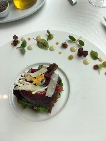 Jarnac, ฝรั่งเศส: Plateau de fromage o top ... le soufflet en dessert une tuerie ..ravioli de homard hummmm et le