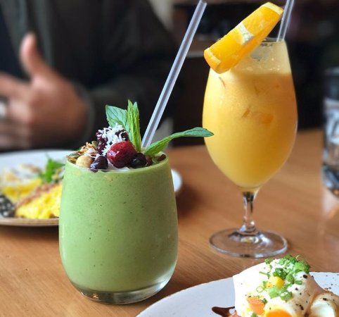 Guildford, Australien: Matcha smoothie and juice