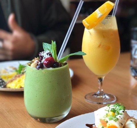 Guildford, Austrália: Matcha smoothie and juice