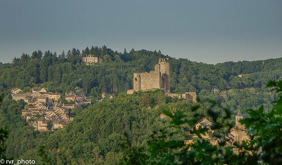 Najac, Francia: Panorámica del castillo y pueblo
