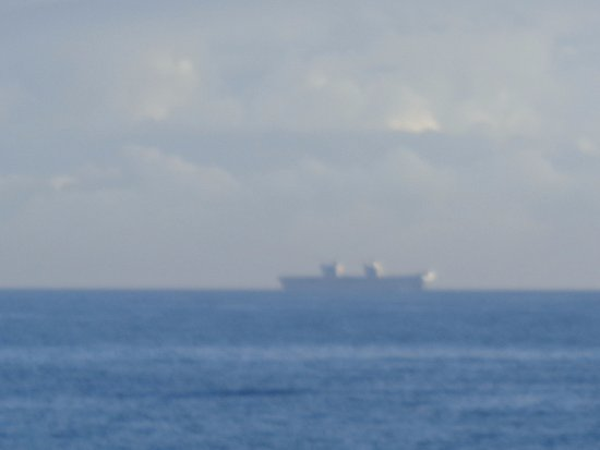 Lossiemouth, UK: HMS Queen Elizabeth aircraft carrier on sea trials (it did come nearer but missed photo)