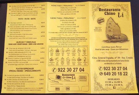 Santa Ursula, Spanje: Carta